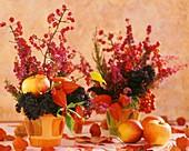 Pfaffenhütchen, Erica, Lampionblume, Apfel und Ziekohl