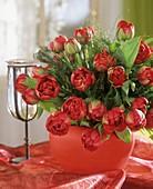 Roter Tulpenstrauss