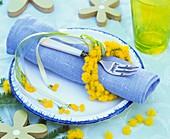 Mimosa napkin ring