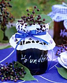 Elderberry jam and elderberries