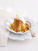 Apple and sea buckthorn cupcake