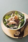 Perlgraupen-Spinat-Salat mit Calamaretti