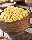 Cornflakes in terracotta pot