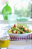 Pasta salad with rocket and tomatoes