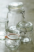 Preserving jars of various sizes