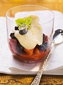 Berliner Luft (light dessert cream) with mixed berries