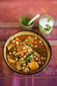 Parsnip curry with coriander pesto and yoghurt