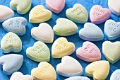 Sugar hearts with messages