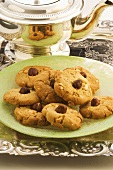 Hazelnut biscuits with tea