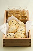 Shortbread biscuits with passion fruit icing