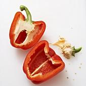 Red pepper, halved