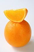 Orange wedge on orange