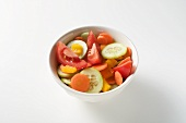 Salad vegetables (tomatoes, cucumber, peppers, carrots)