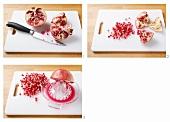 Deseeding a pomegranate
