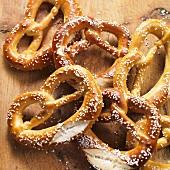 Several pretzels