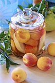Apricot and pear compote