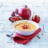 Pomegranate soup with cloves