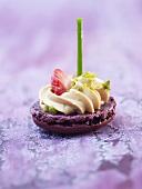 Macaron with foie gras
