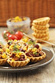 Tuna and red kidney bean tarts