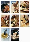Preparing a Vietnamese crab dish