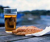 Cornish pasty and a pint of beer