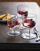 Ricotta cream with berry compote