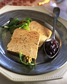 Foie gras with berry chutney
