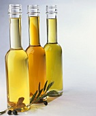 Three different olive oils