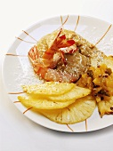 Shrimp curry with pineapple