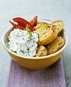 Sesame potatoes with cottage cheese