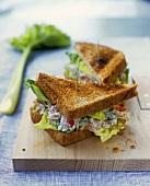 Tuna sandwich in toasted bread