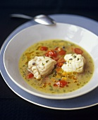 Pescatrice inzuppata (Fish soup with monkfish & tomatoes)