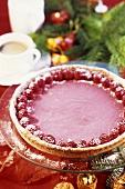 Raspberry tart for Christmas