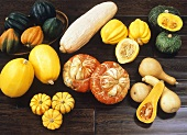 Various types of squashes