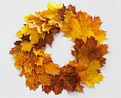 Herbstlicher Kranz aus Ahornlaub