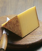 A piece of Bergkäse cheese