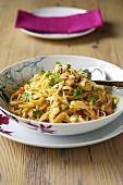 Linguine with crabmeat, chilli and parsley