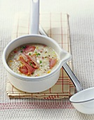 Barley soup with smoked meat