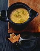 Carrot and papaya cream soup