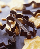 Biscuit cutters and Christmas biscuits