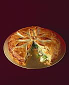 Turkey pie with Lancashire cheese and leeks