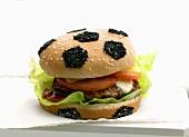 Burger in 'football' bun