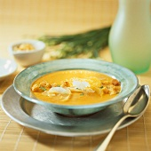 Carrot and orange soup with ginger