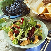 Grape salad with chicken breast