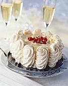 Vacherin cake with coffee cream