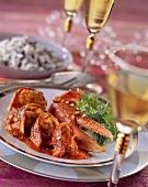 Homard a l'américaine (Lobster on tomato sauce, France)