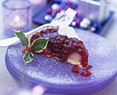 A piece of berry tart for Christmas