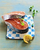 Two salmon cutlets