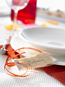 Place-setting with place card