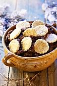 Lamance z makiem (Polish Christmas biscuits with poppy seeds)